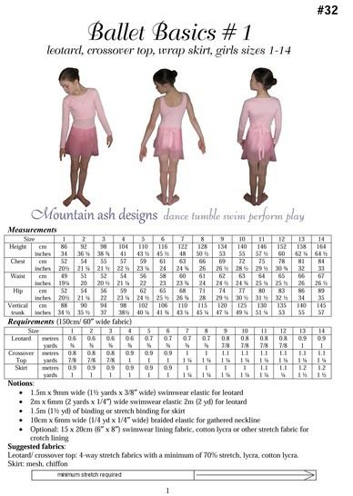 Ballet Basics 1 Wrap Top, Leotard & Skirt in Girls Sizes 1-14