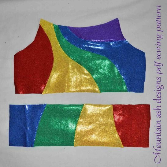 Gymnastics and Dance Rainbow Tops 2 in Girls Sizes 2-14