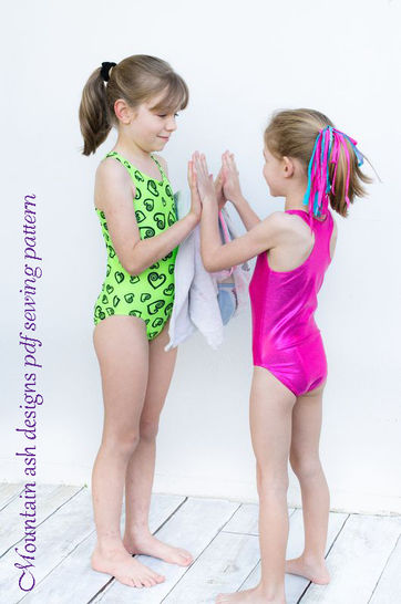 Laura Racer Back Swimsuit and Leotard Sewing Pattern in Girls Sizes 2-14