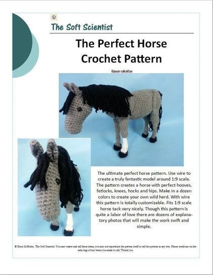 Horse Amigurumi Crochet Pattern + Tutorial - Advanced Crochet