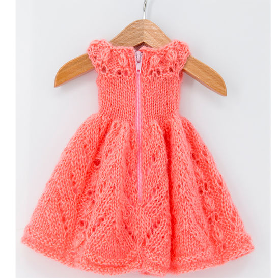 Doll summer dress, Doll clothes, 18 inch doll - knitting pattern