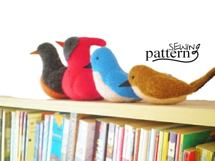 Upcycled Sweater Birds - PDF Sewing Pattern