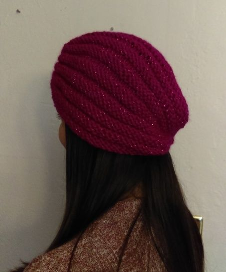 Berry Bling Turban- Knitting Pattern