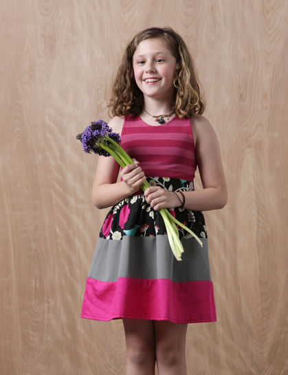 Mia Dress pdf Sewing Pattern for Girls (Knit & Woven)