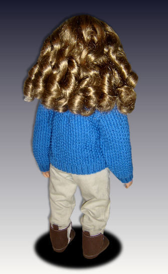 """Cable Pullover Sweater, fits 23"""" dolls."""