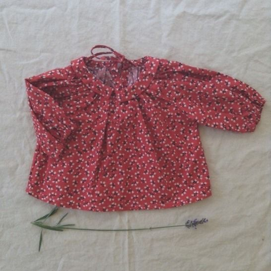 Gathered Top With Collar