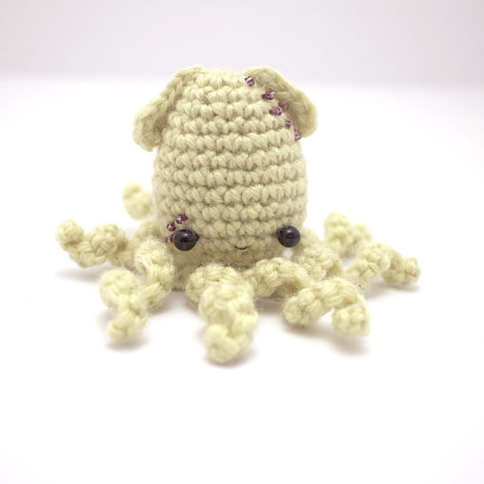 Squids, jellyfish and octopuses - crochet amigurumi pattern set