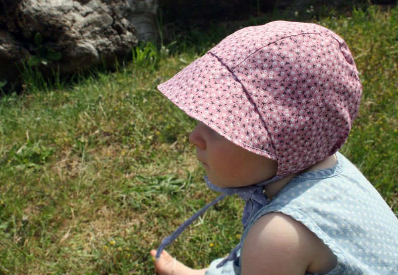 Short Brimmed Baby Bonnet Sewing Pattern // Reversible Baby Bonnet // Baby Bonnet // Modern Bonnet Pattern // Baby Boy // Baby Girl //