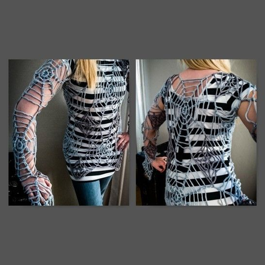 The Black Widow - Spider Web Tunic