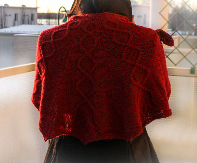 Lily of The Valley - Cabled shawl knitting pattern tutorial