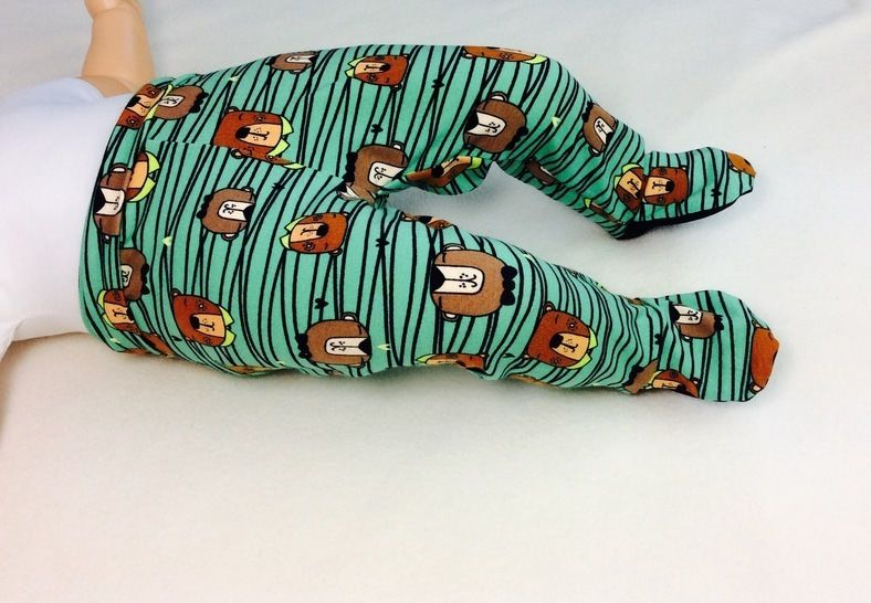 Baby footed pants free sewing pattern