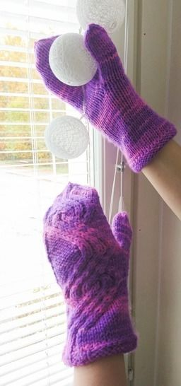 Medvind Mittens Cabled Knitting Pattern