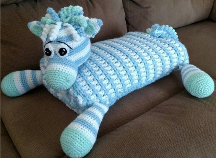 Zoe the Unicorn, Zebra, or Horse Blanket Buddy