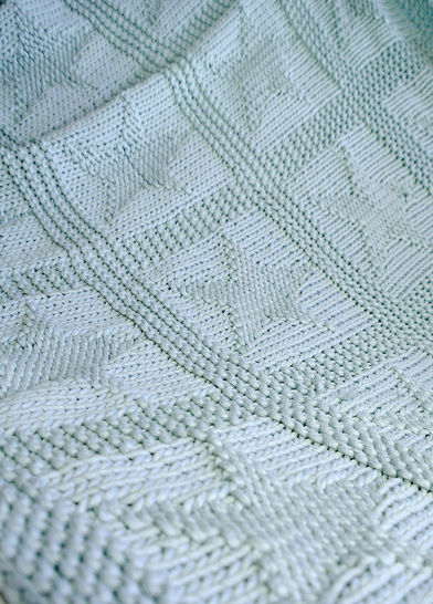 Easy chunky baby blanket with stars