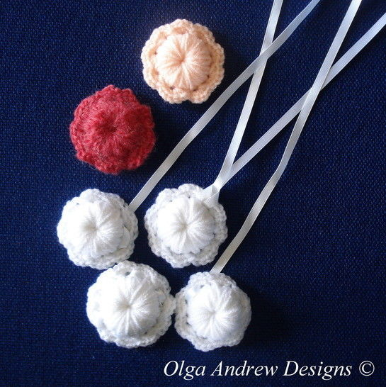Flower necklace/pendant/brooch crochet pattern 068