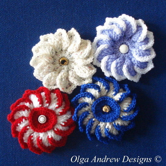 Dahlia flower crochet pattern 020