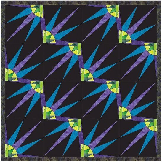 HC Quarter Star 4 - 10 Inch Paper Piecing Foundation Quilting Pattern