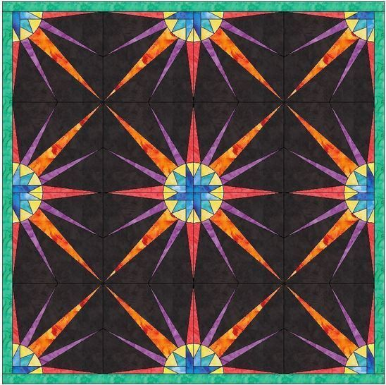 HC Quarter Star 6 -10 Inch Paper Piece Foundation Quilting Pattern
