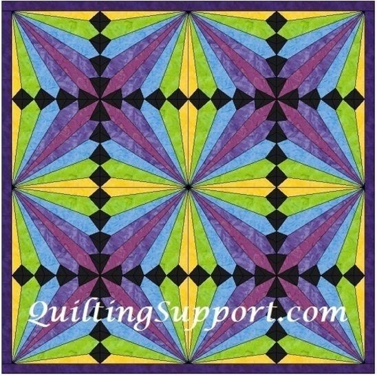 HC Rainbow Fan 10 Inch Paper Piecing Foundation Quilting Pattern