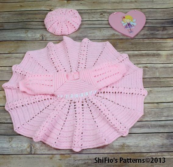 CP13 Summer Satin Dress & Hat Pattern in 3 Sizes Baby Crochet Pattern #13