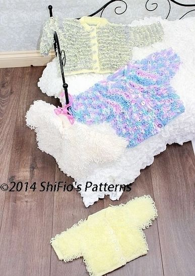 CP220 Loopy Cardigans Baby Crochet Pattern #220