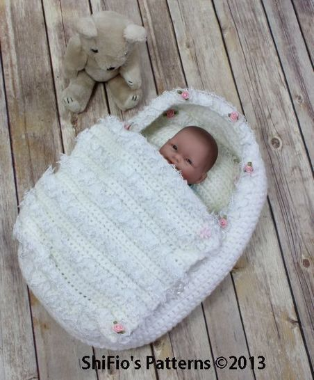 CP77 Doll, Itty Bitty, Carry Cot Moses Basket Crochet Pattern #77