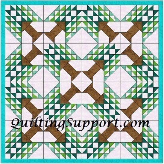 Tree of paradise 15 Inch Template Quilting Block Pattern