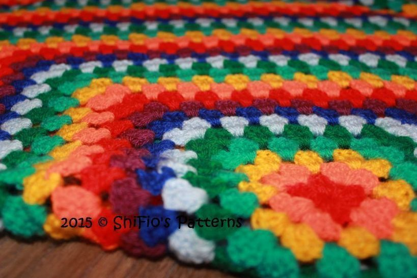 CP338 Granny Square Afghan Crochet pattern #338