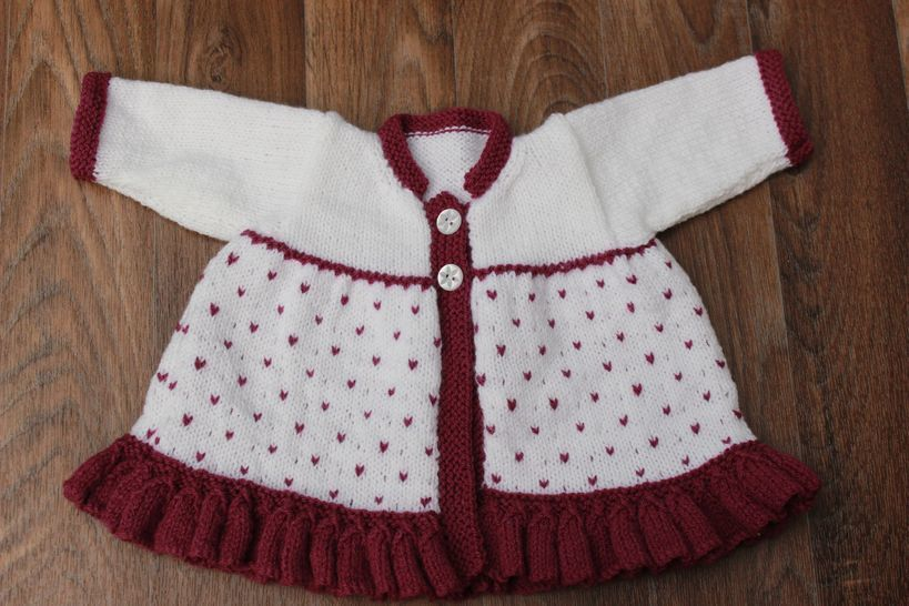 KP340 Olivia Matinee Jacket and Hat Baby Knitting Pattern #340