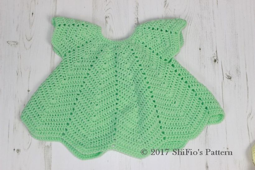 CP368 CROCHET PATTERN For Rippled Angel Top in 3 Sizes, 6 months to 4 years, Girls, Baby, Summer U.K, U.S.A  PDF 368