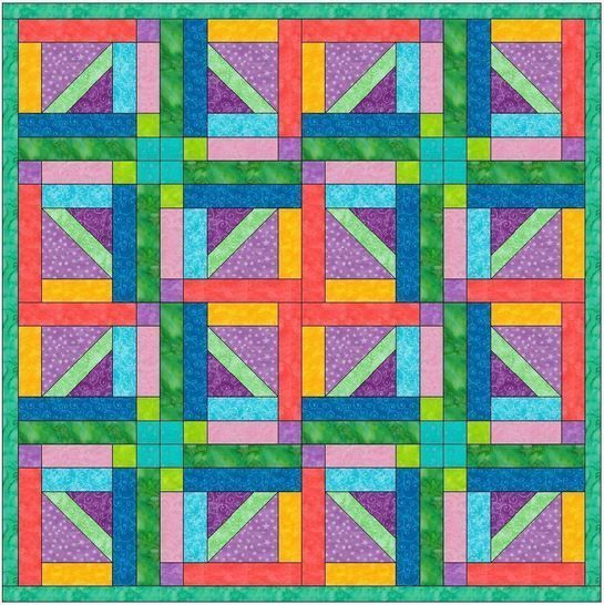HC Geometrical 15 Inch Block Quilting Template Pattern