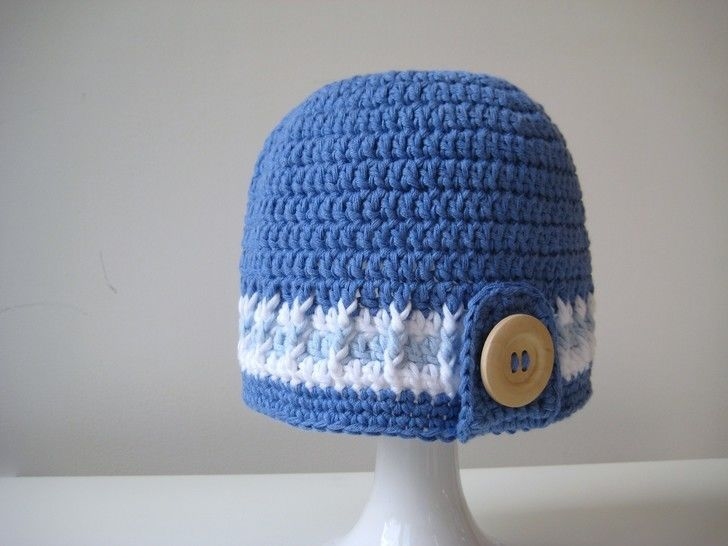 Crochet Hat, Surfer Boy Hats, Pattern No5, in both UK and US crochet terms