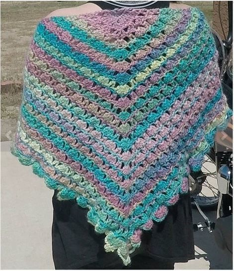 Candied Bleeding Heart Shawl Wrap Pattern with Chart Diagram and Videos PDF