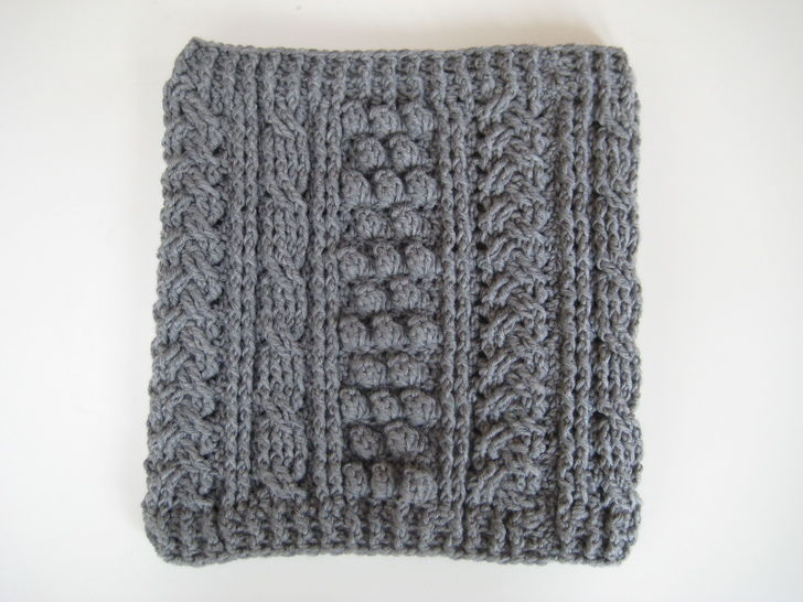 Crochet aran cowl, scarf, wrap, Pattern No21, in both UK and US crochet terms