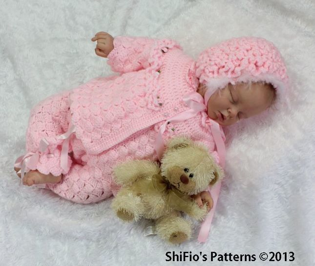 CP26 Jacket, Pants, Hat, Bootees Baby Crochet Pattern # 26