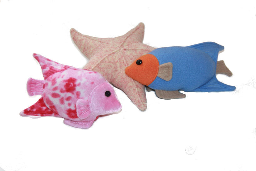 Fishy Friends Soft Toy Sewing Pattern - Includes Starfish, Angelfish & Big Fish