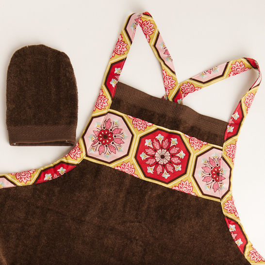 Baby Bath Apron Towel and Mitt - PDF Sewing Pattern
