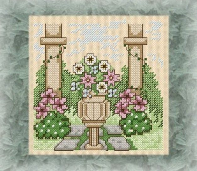 Country Gardens in cross stitch