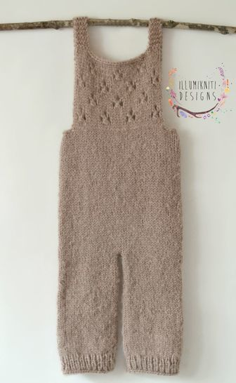 River Overalls/Romper Photography Prop - Knitting Pattern