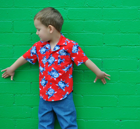 Boys shirt sewing pattern - Thomas Shirt - casual summer shirt