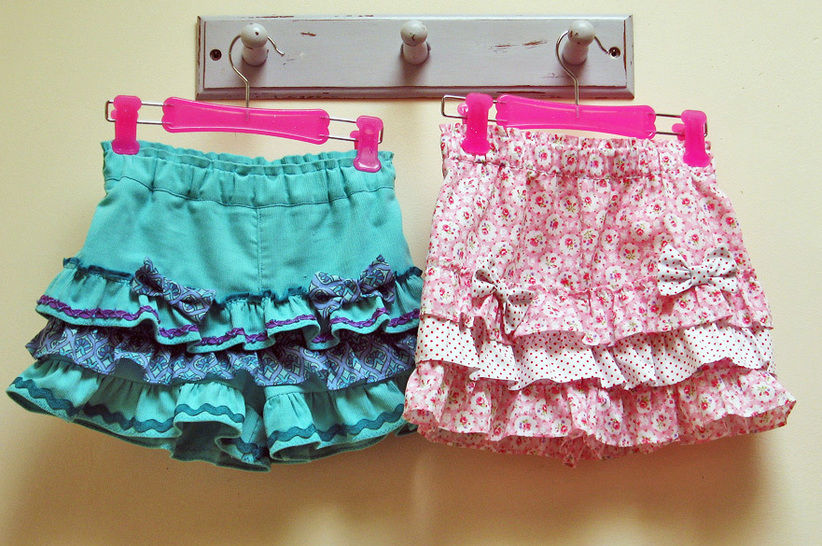 Girls frilly summer shorts sewing pattern SILLY FRILLY SHORTS