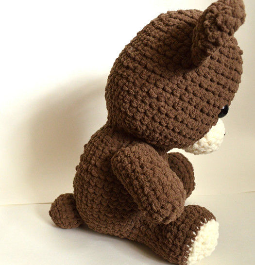 Teddy Bear Crochet Pattern.  Giant, Soft, and Huggable