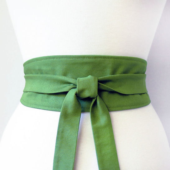 reversible obi style wrap belt - sewing pattern