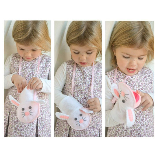 Animal Puppet Purse pattern (bear, cat, mouse, rabbit and pig) - hand and machine sewing instructions