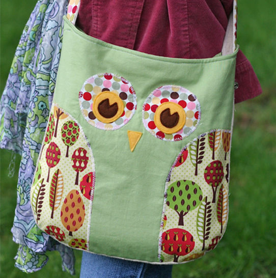 Lola Owl Pillow and Tote Bag PDF Sewing Pattern