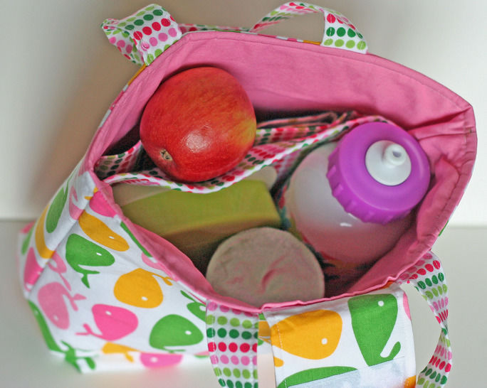 Waste Free Lunch Bag Sewing Pattern