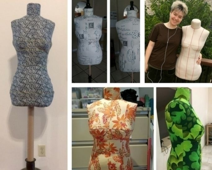 DIY Dress Form PDF Sewing Pattern, Size 12 (Bra Cups C, D & DD/E). Plus Complete Step-by-Step Sewing Photo-Guide.