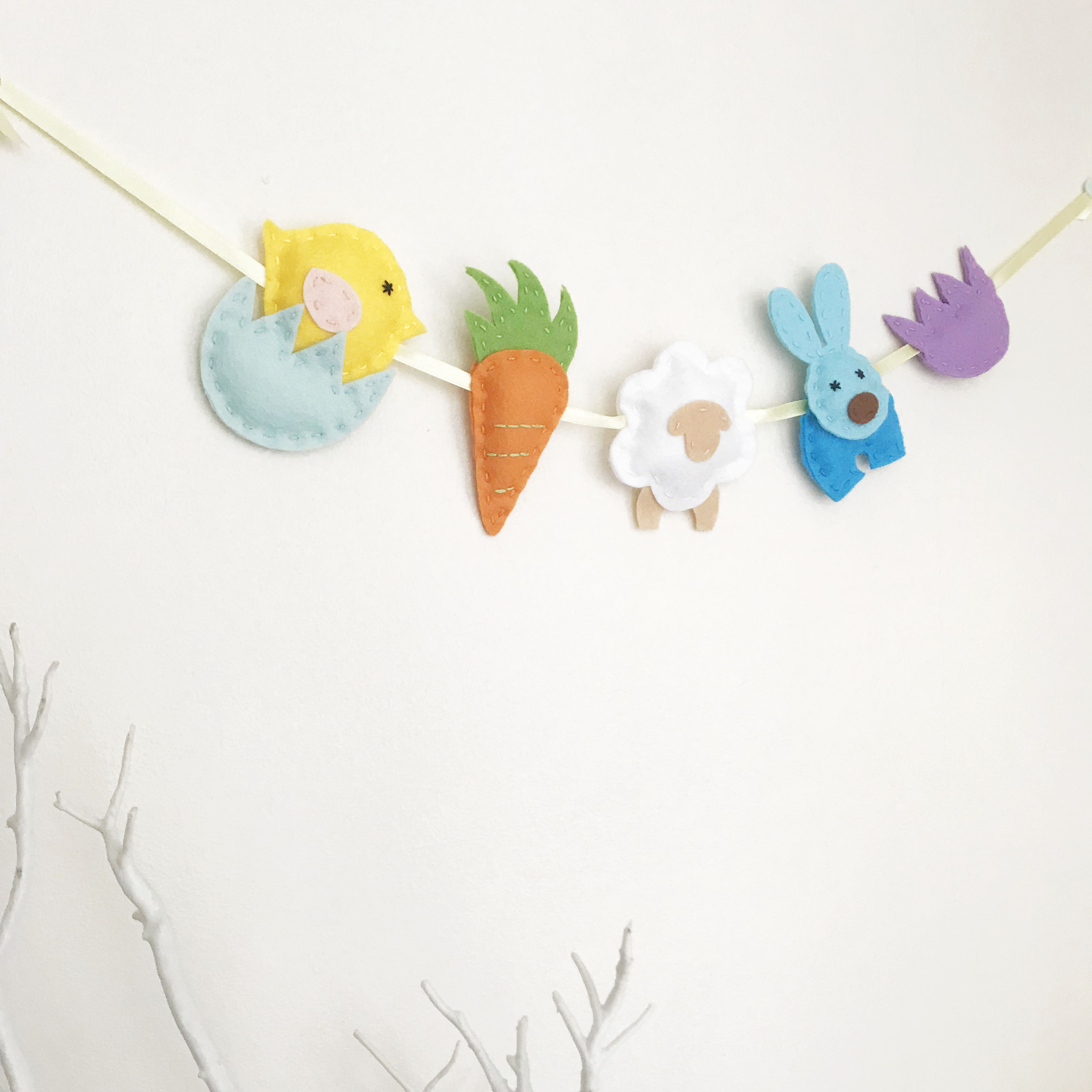 Easter Garland Felt Downloadable Pdf Pattern