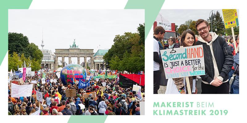 Makerist beim Globalen Klimastreik 2019