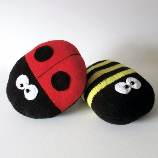 Ladybird and Bee Cushions